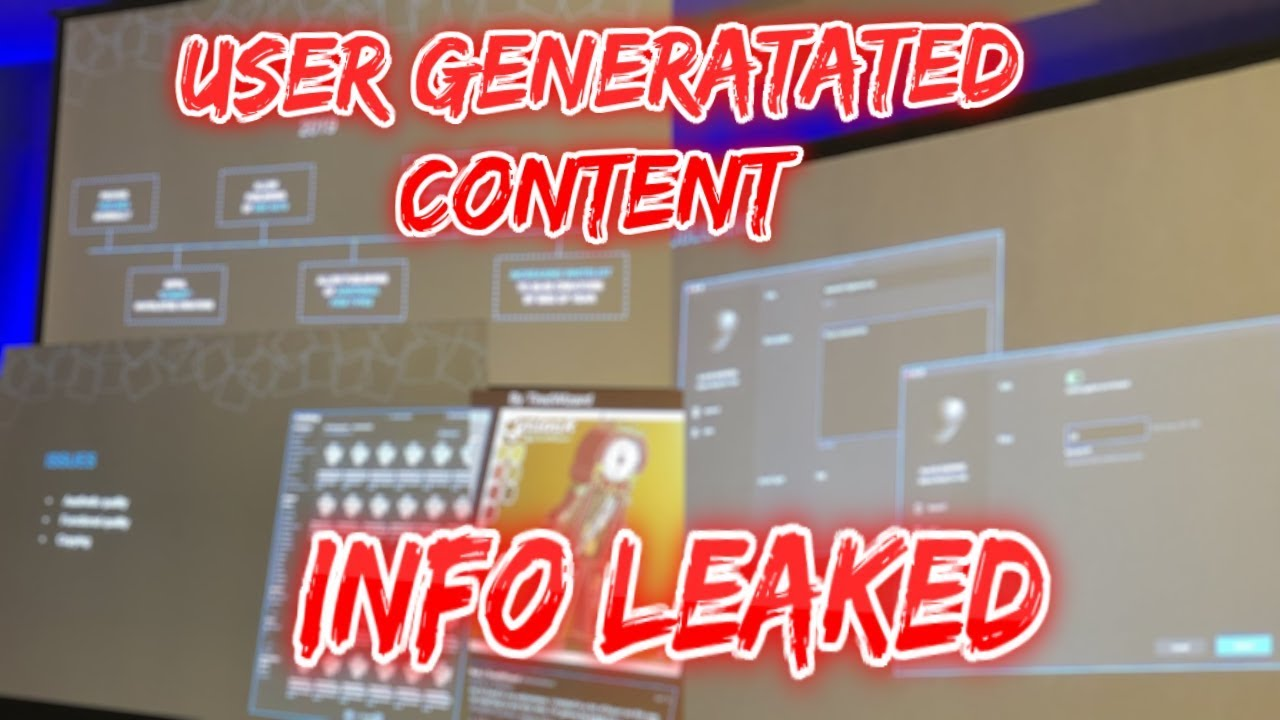 All User Generated Content INFO LEAKED!