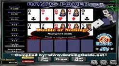 Bonus Poker DELUXE 3 Hand Video poker