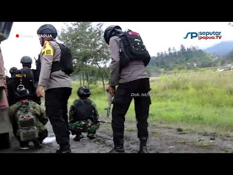 Detik-detik Kontak Tembak Aparat Gabungan TNI Polri dengan KKB di Ilaga