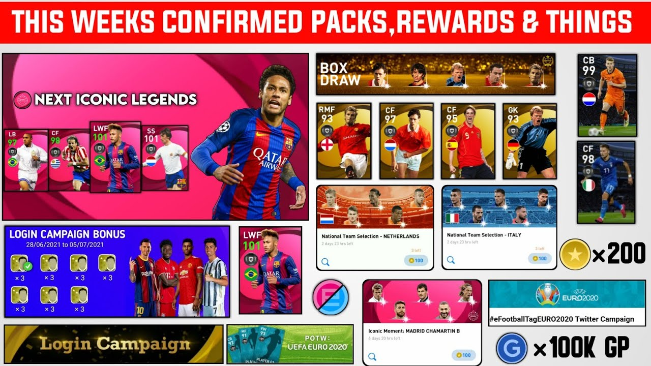 All New Things And Rewards On This Week | Pes 2021 Mobile