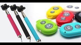 Kit Selfie / Pau de Selfie - Controle Remoto Bluetooth + MONOPOD - TIOCHICOSHOP