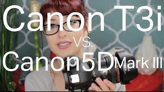 My Camera Setup | Canon t3i w/ sigma 30mm lens VS. Canon5D Mark iii 24-40mm lens