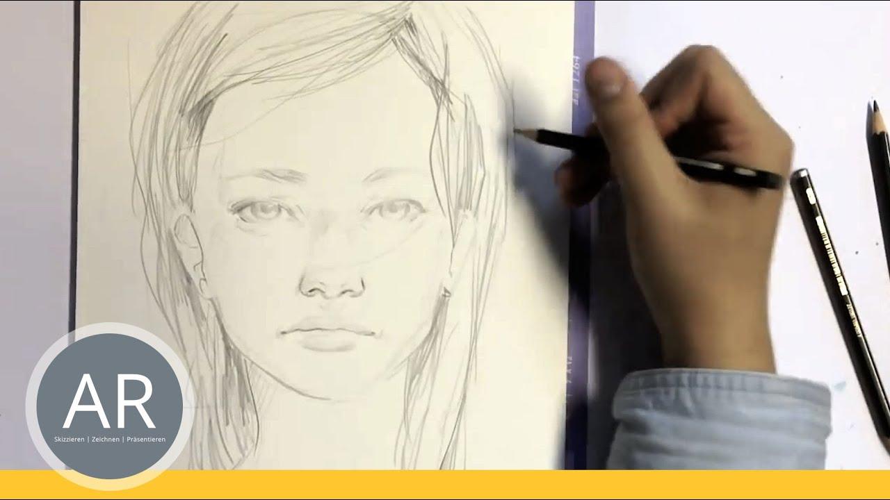 Zeichnen Lernen Portrait Zeichnen Akademie Ruhr Tutorial Youtube