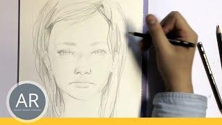 Zeichnen lernen  - Portrait Zeichnen - Akademie Ruhr Tutorial