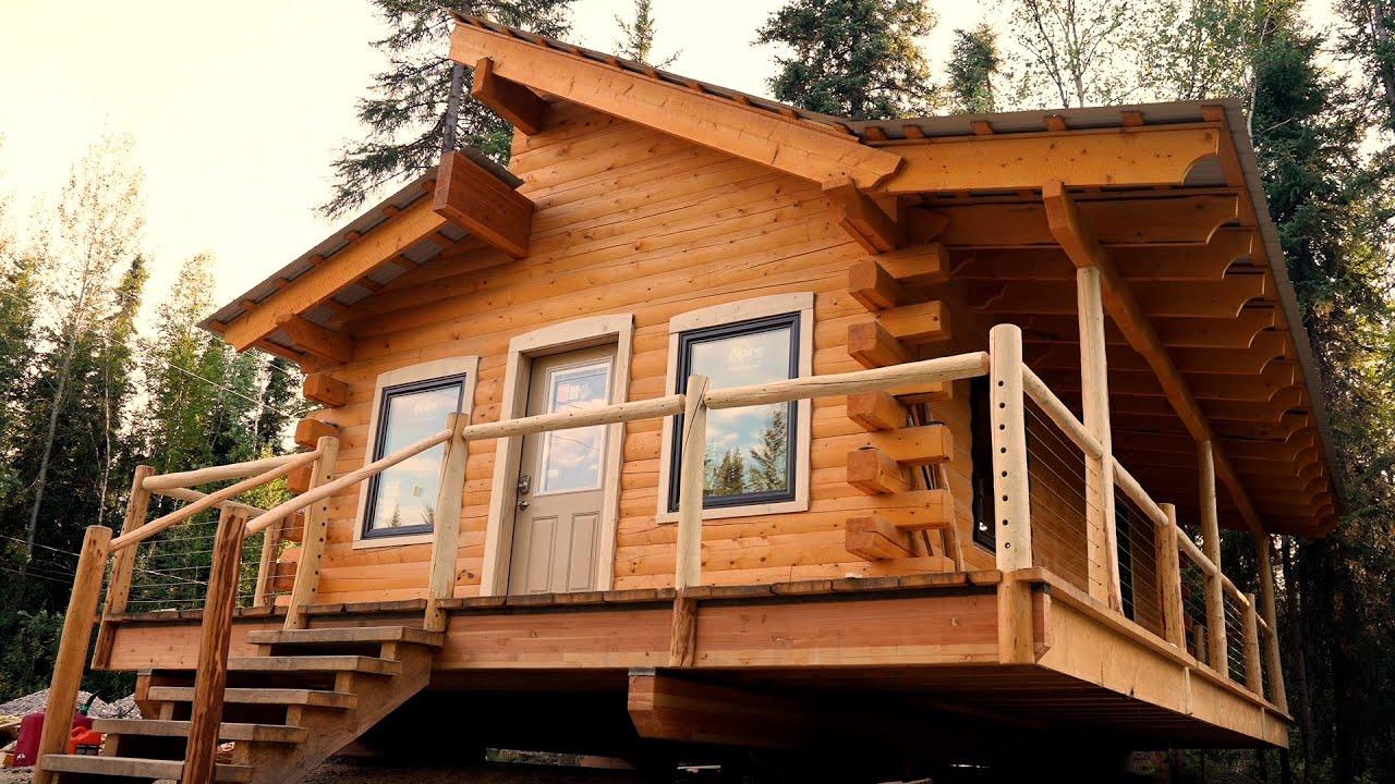Building An Alaskan Log Cabin - Wk 15 (Three Windows And A Door)