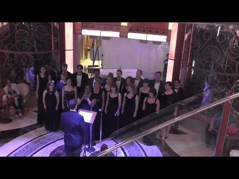 John A Logan College Choir performing on The Grand Princess