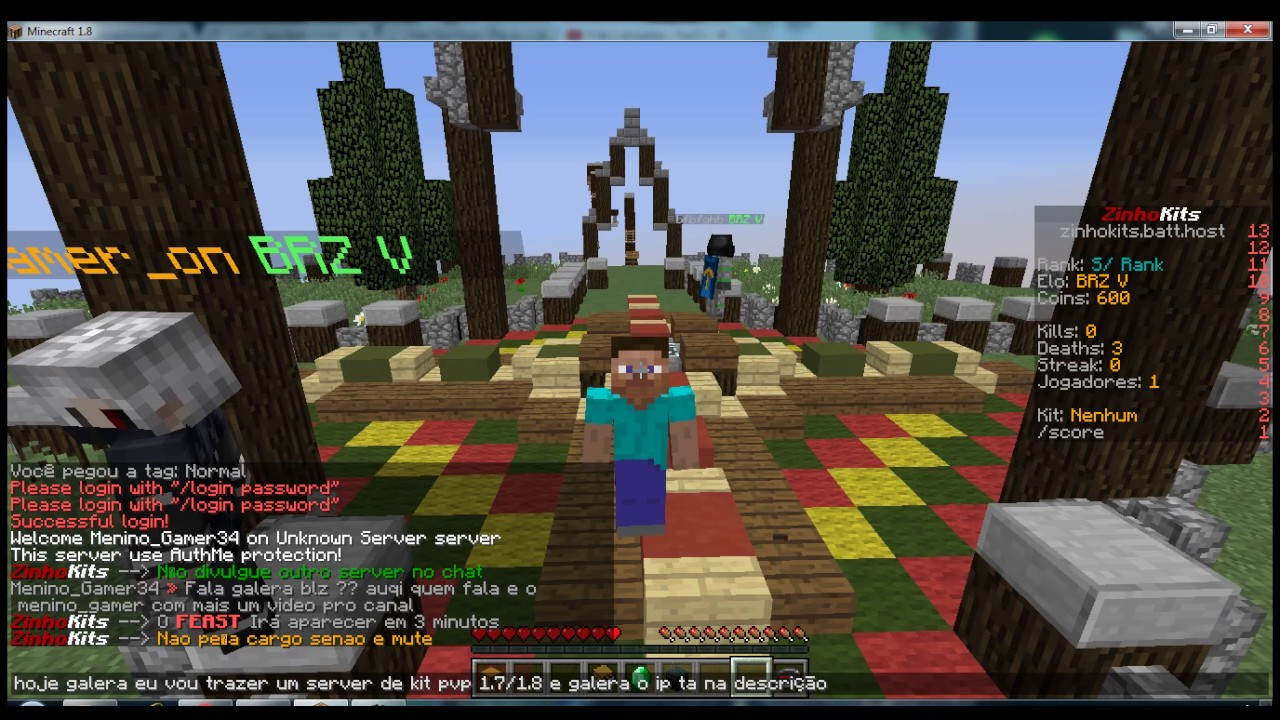 Minecraft servers with authme 1 10