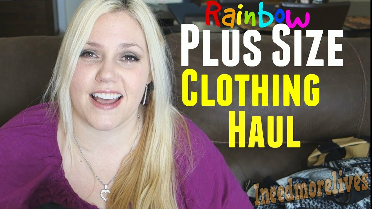 Plus Size Clothing Haul - Rainbow Shops - YouTube