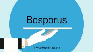 Learn how to say this wordBosporus