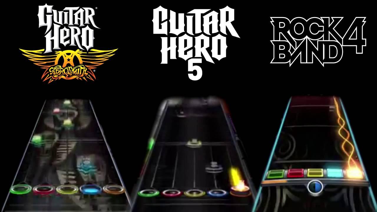 rock band 4 vs guitar hero aerosmith vs guitar hero 5 love in a elevator youtube. Black Bedroom Furniture Sets. Home Design Ideas
