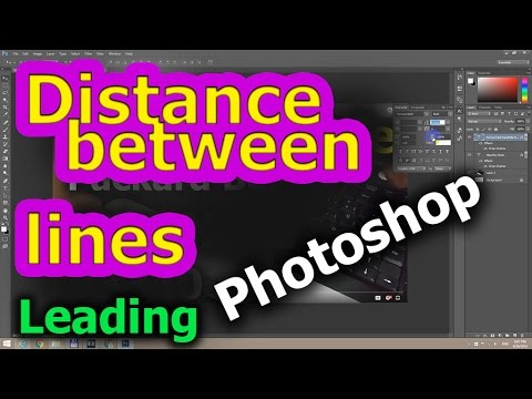 How to Increase/Decrease Space between Text Lines in Photoshop CC (Leading)