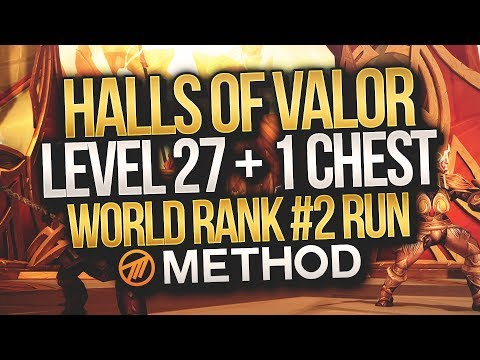 LVL 27+1 WORLD #2 MYTHIC+ Halls of Valor - Method - Gingi Hunter POV