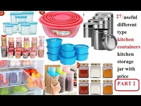 27 Useful Different Type Kitchen Containers Kitchen Storage Jar With Price  Amazon India Part 2