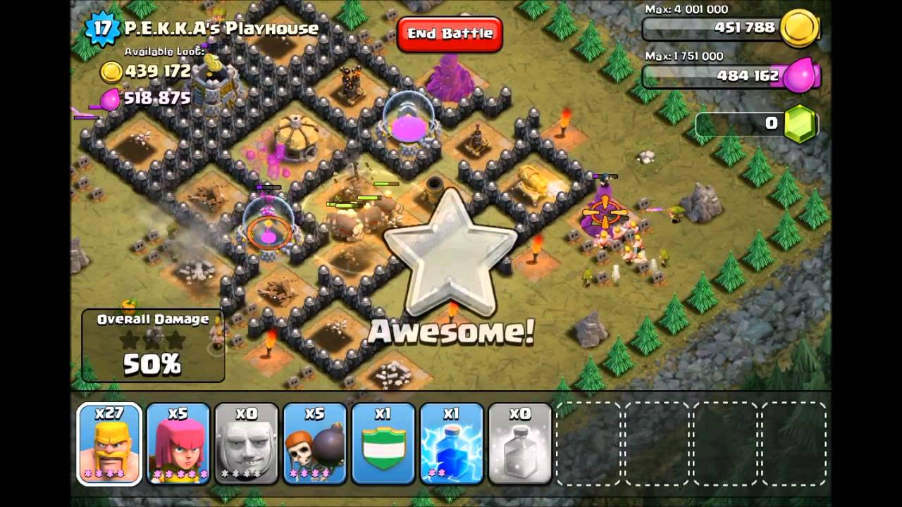 Clash of clans before last goblin map youtube