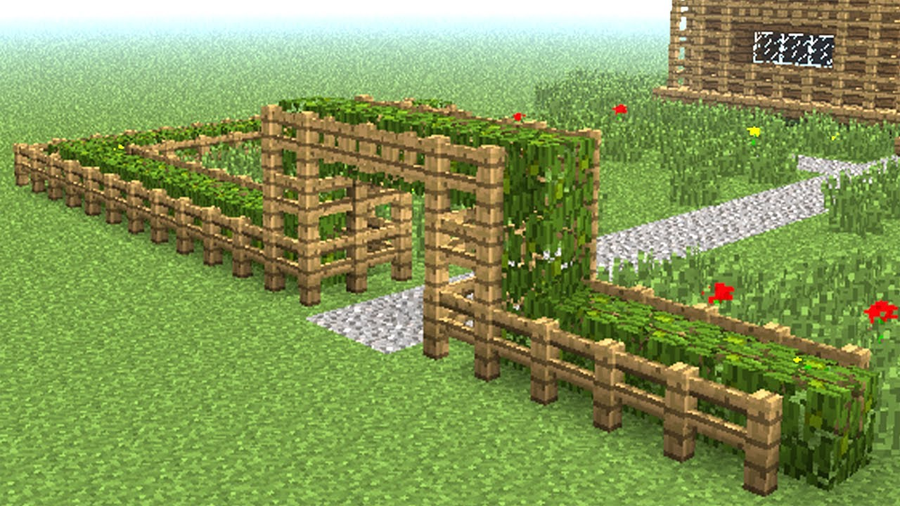 Minecraft How To Build Wooden Fence Youtube