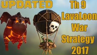 Th9 Air Strategy 2017 | Th9 Lavaloon War Attacks 2017| Clash Of Clans