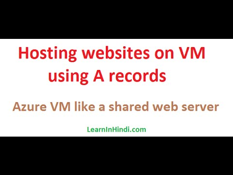 Hosting websites on VM using A records - Azure Virtual Machine