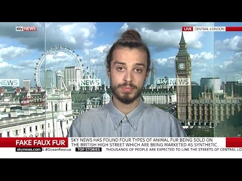 Sky News: Cat Fur Labelled Faux Fur in UK