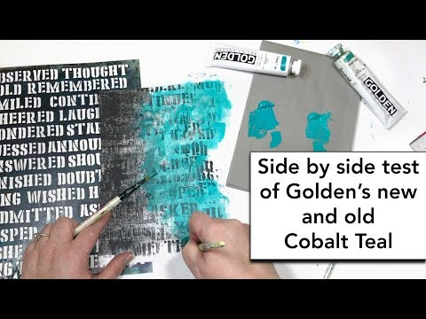 Comparing Golden's new Cobalt Teal side by side to the old Cobalt Teal