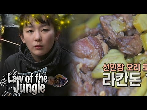 Seul Gi cactus tastes good too! Law of the Jungle Ep 323