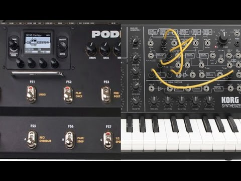 POD HD500 as a SYNTH - TEST with all synth patches pod hd 500 line 6