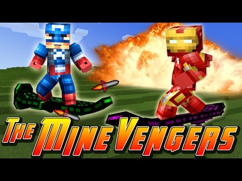 Minecraft MineVengers - RIDING ON HOVERBOARDS!!