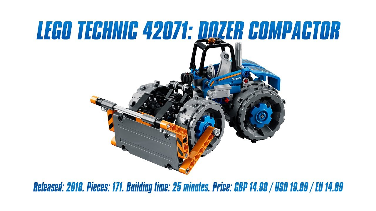 Lego Technic 42071 Dozer Compactor In Depth Review Speed Build
