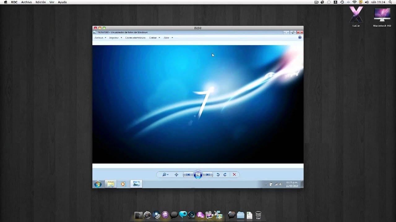 Escritorio Remoto Windows 7 En Mac Youtube