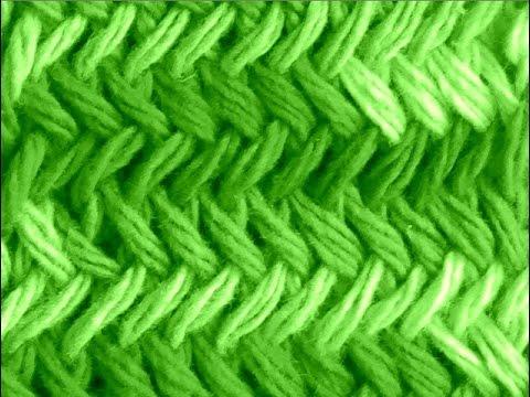 Como tejer punto espigas original herringbone stitch 2 - Puntos para tejer ...