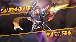 Strike of Kings Skins: INSANE END GAME DAMAGE!! [Sharpshooter] Violet [PA/Top] Gameplay