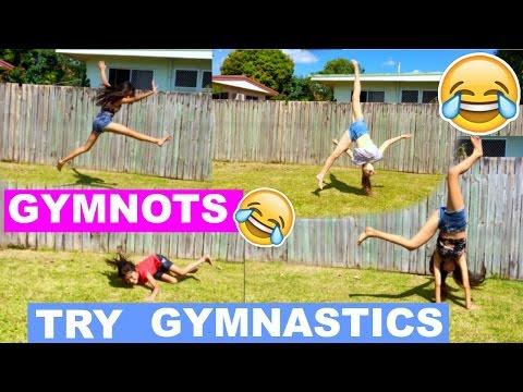 NON gymnasts ATTEMPT gymnastics! Funny Fails