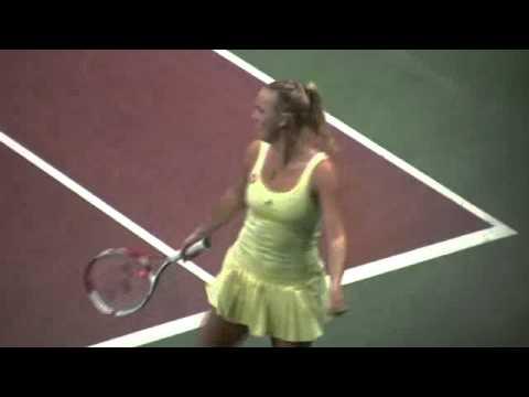 Caroline Wozniacki and Dominika Cibulkova dancing