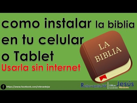 Como instalar la biblia en tu celular o Tablet | Usar la biblia en el celular sin internet