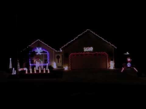 Christmas Light Show 2010 - Run DMC Christmas in Hollis (32 Channels)