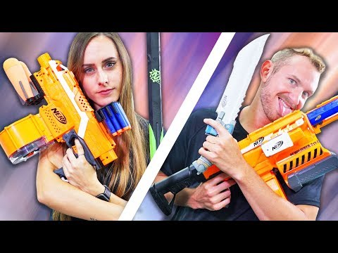 NERF Build Your Teammates Weapon Challenge!