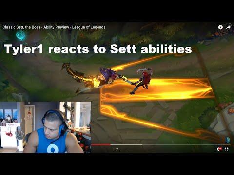 Tyler1 Reacts To Sett Abilities LoL