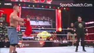 John Cena & bret the hitman hart Vs Alberto del rio & ricardo rodriquez