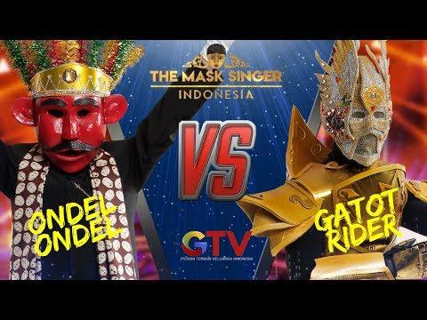 ONDEL ONDEL VS GATOT RIDER     THE MASK SINGER INDONESIA #1(3/6) GTV