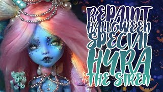☽ Moonlight Jewel ☾ Repaint HALLOWEEN COLLABORATION Hyra the Siren Poseable Evil Mermaid Doll