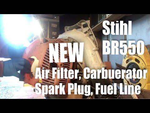 Stihl BR550 Repair w/Aftermarket Parts from Amazon