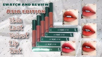 [ SWATCH & REVIEW ] BBIA LAST VELVET LIP TINT ASIA EDITION | SON MÀU ĐẤT | GIVE AWAY | YUL DAILY