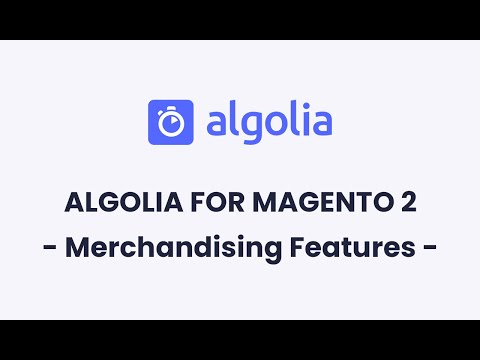 Algolia for Magento 2 | Merchandising Features