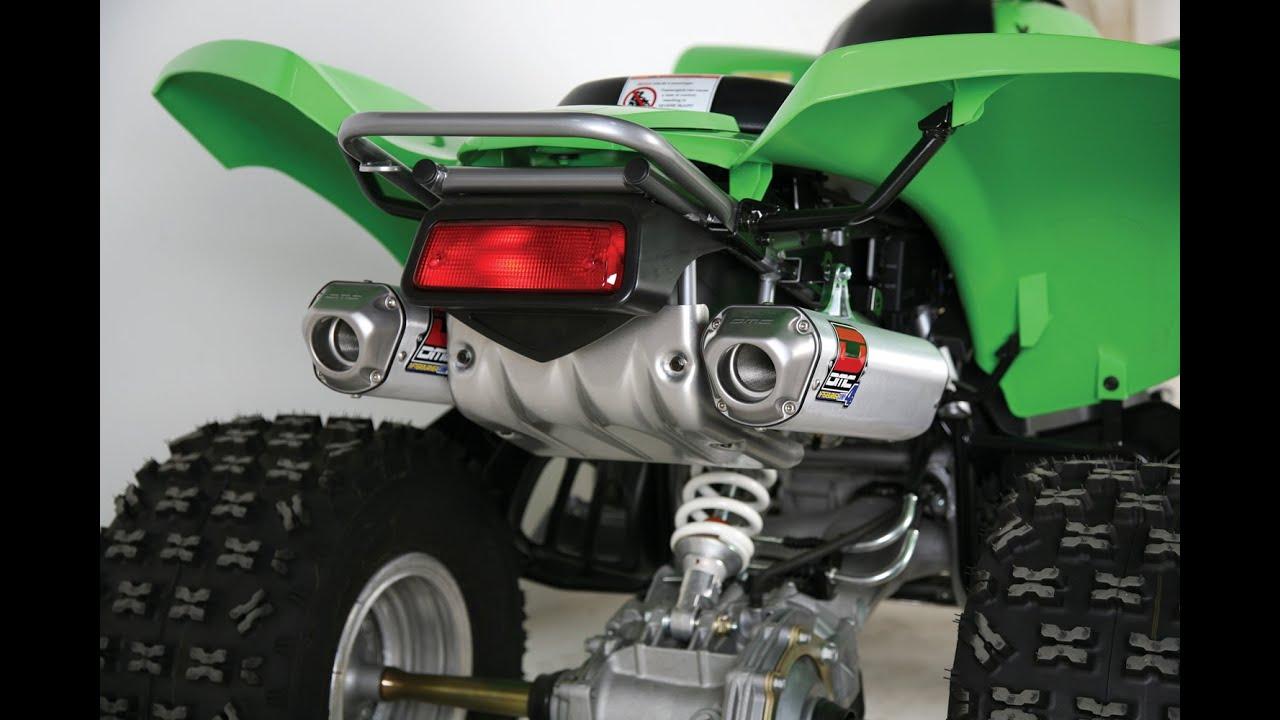 ♫ ♪ ♫ Kawasaki KFX 700 Exhausts review I SoundCheck ...