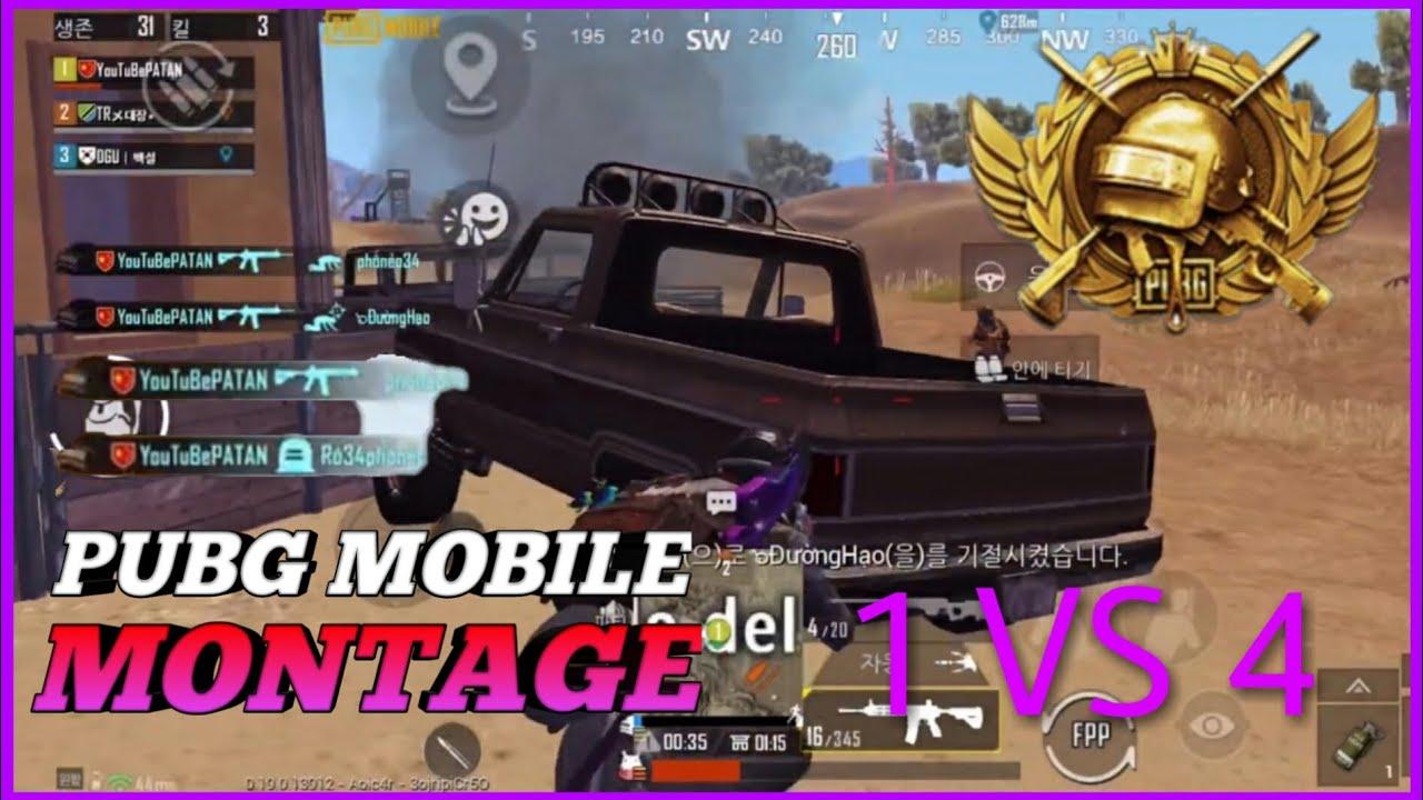 PUBG_Mobile  1 VS 4 4Finger Gyro Montage[모바일배그 4핑거 자이로 매드무비]