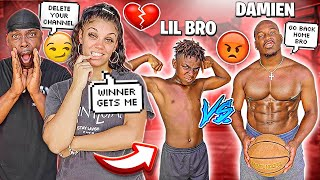 1 VS 1 AGAINST MY 12 YEAR OLD BROTHER DARION THE REMATCH GAME 💔😭 **IT'S ALL OVER**