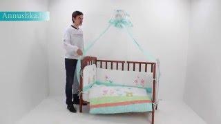 Комплект детского постельного белья Перина Глория(Обзор постельного белья для новорожденных от белорусского производителя