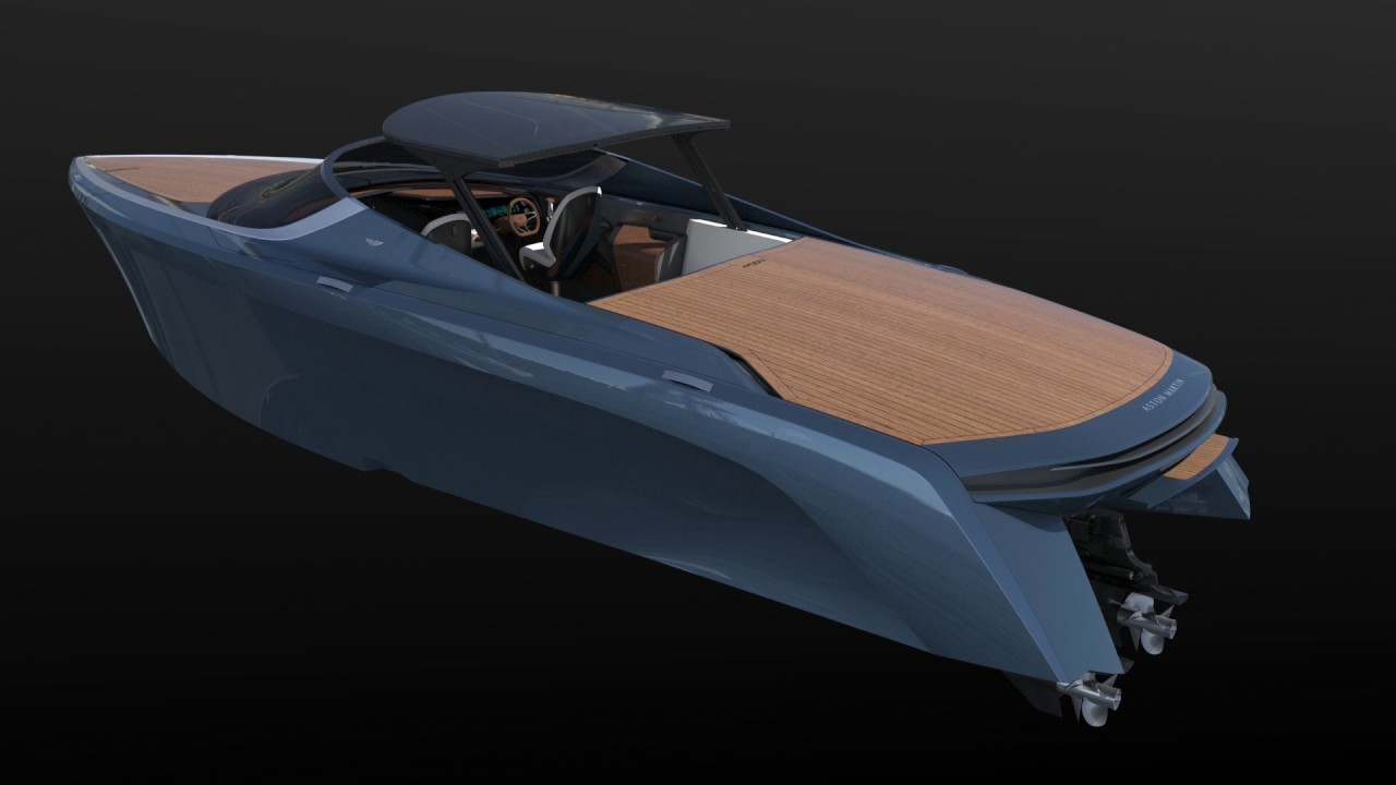 Of Course The Aston Martin Am37 Speedboat Is Fast And Beautiful Autoblog