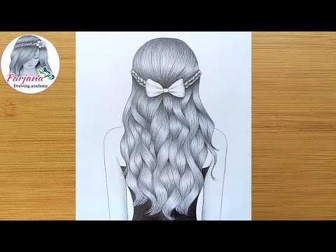 how-to-draw-a-girl-with-wavy-hair-for-beginners-||-wavy-hair-drawing-tutorial-||-pencil-sketch