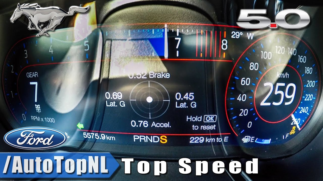 Ford Mustang 2018 Acceleration 0-100