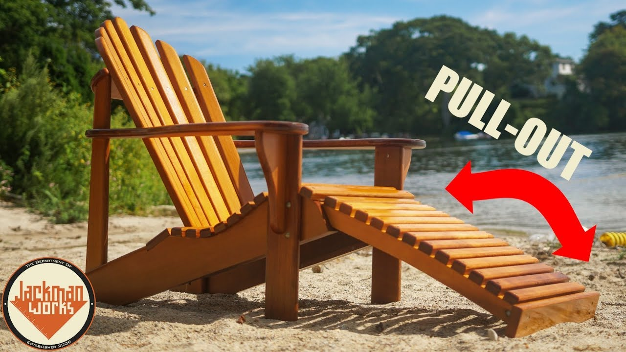 ultimate diy adirondack chair with pull out footrest